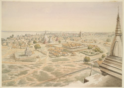 Panoramic view of Pagân, looking N.E. by N